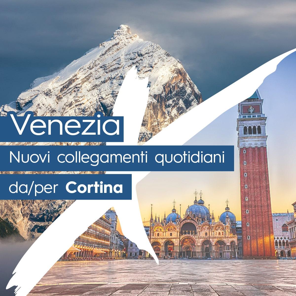 Collegamenti giornalieri Venezia-Cortina